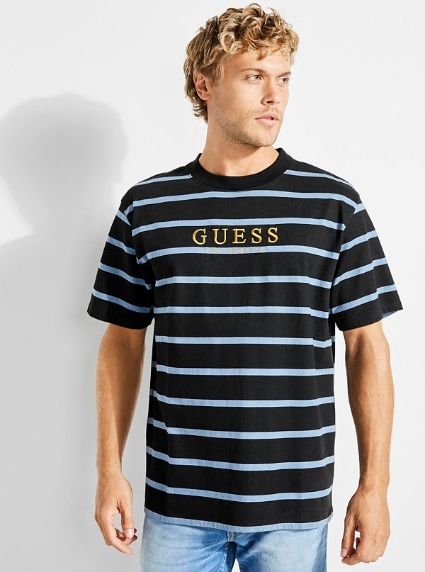 9d1998a27 GUESS Originals '81 Oversized Doheny Striped Tee | GUESS.com