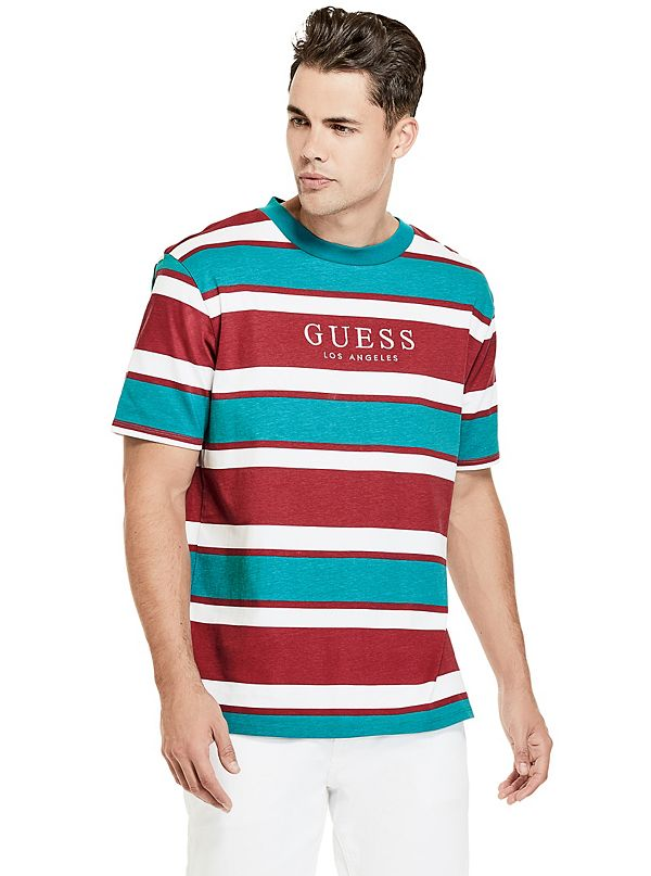 e1d064527 GUESS Originals '81 Oversized Peer Striped Tee | GUESS.com