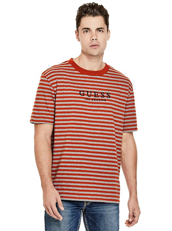 ee21f3f95 GUESS Originals Oversized Robertson Striped Tee | GUESS.com