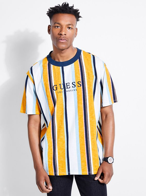 2bdf90e1f GUESS Originals Oversized Sayer Striped Tee | GUESS.ca