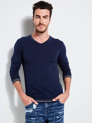 Cosmo V Neck Sweater by Guess