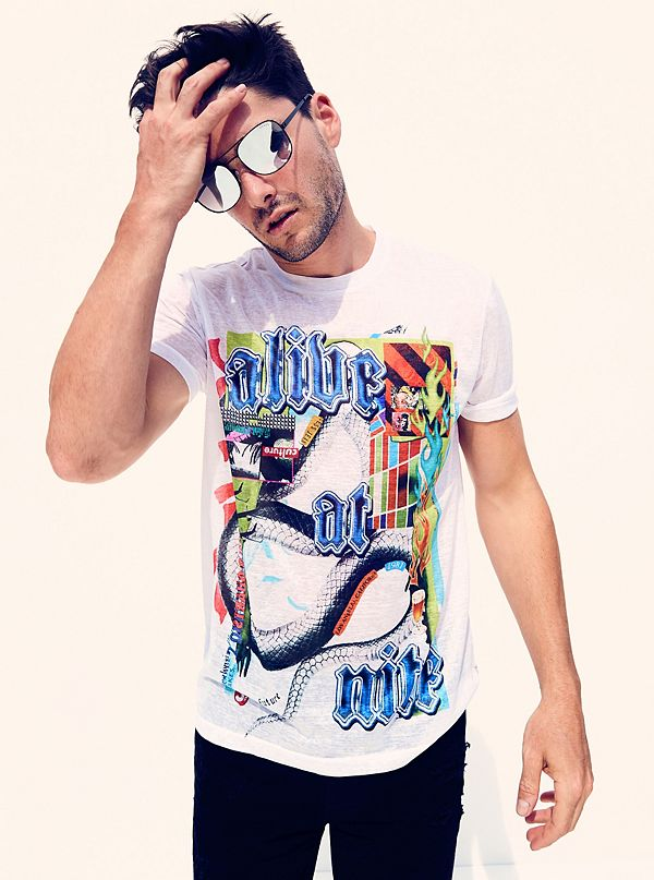 Late Nights Graphic Tee by Guess