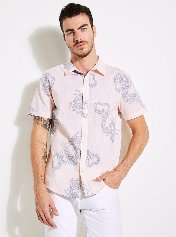 Sunset Dragon-Print Shirt