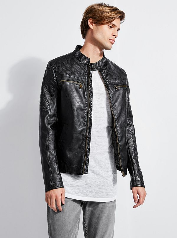 Native Rider Eco Leather Jacket Guess Com