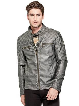 Native Rider Eco Leather Jacket by Guess