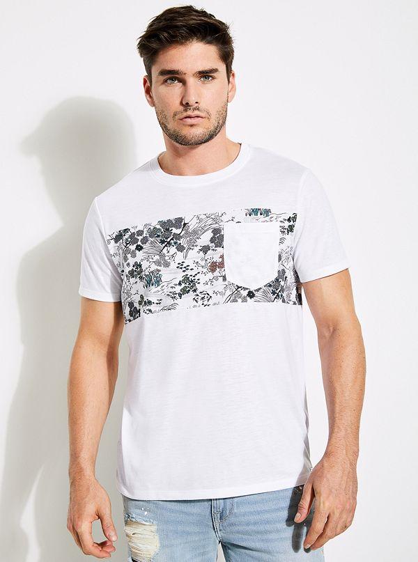 T-shirt à encolure ras du cou et panneaux Mason