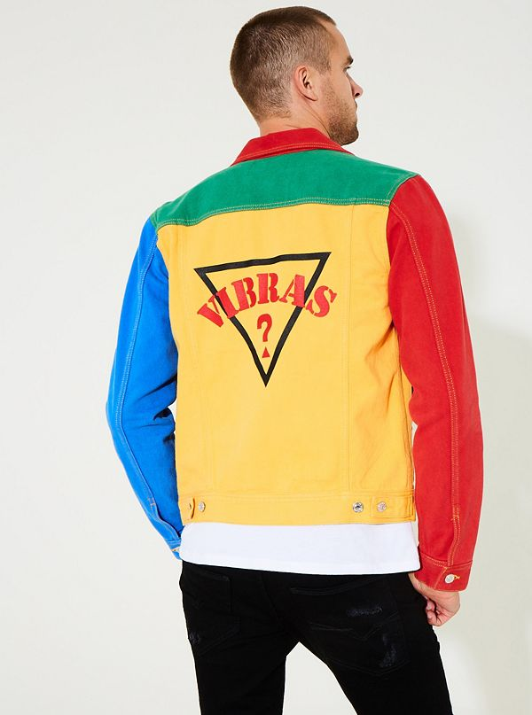 6ee7710bd78bd GUESS x J Balvin Color-Block Denim Jacket