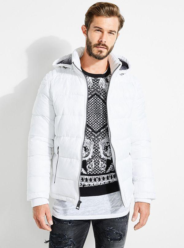 All Mens Sale Guess >> Noah Nylon Puffer Jacket Guess Com