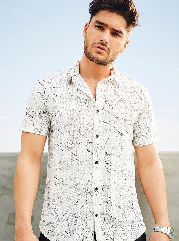 3a8cd628 Jordan Floral-Print Mesh Shirt
