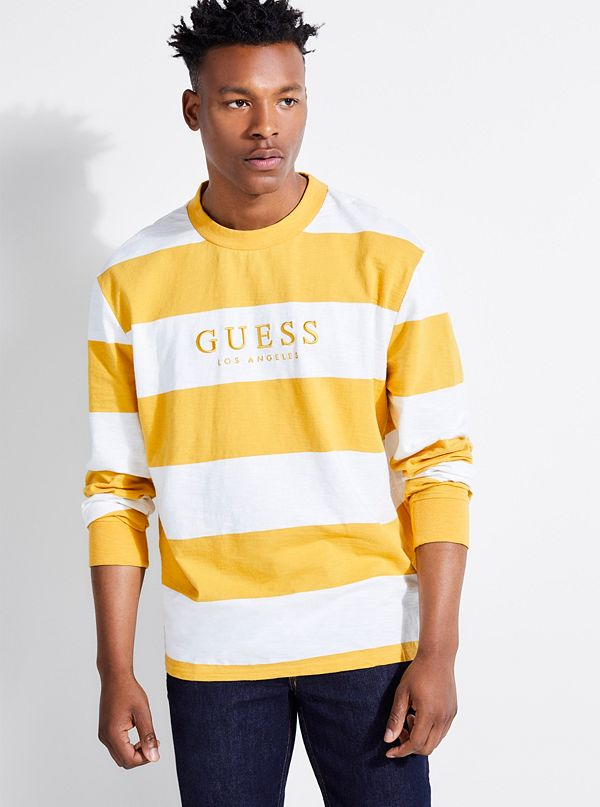 e51ba4c428e8 GUESS Originals Oversized Varsity Stripe Tee