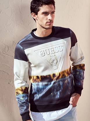 Ashe Ombre Logo Pullover by Guess