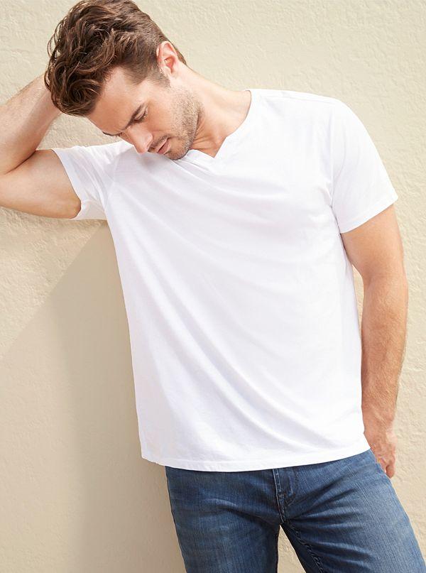 Guess T Shirt en Coton Biologique écologique Guess de Guess