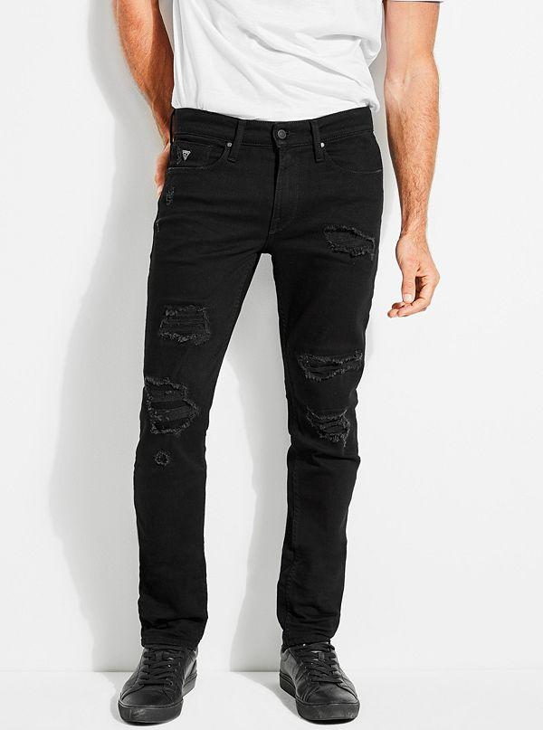 1ee23ee6968 Slim Tapered Destroyed Jeans