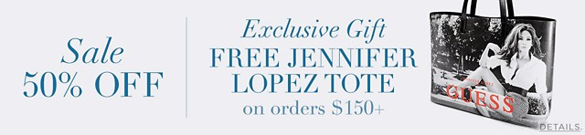 Exclusive Gift Free Jennifer Lopez Tote With Orders $150+