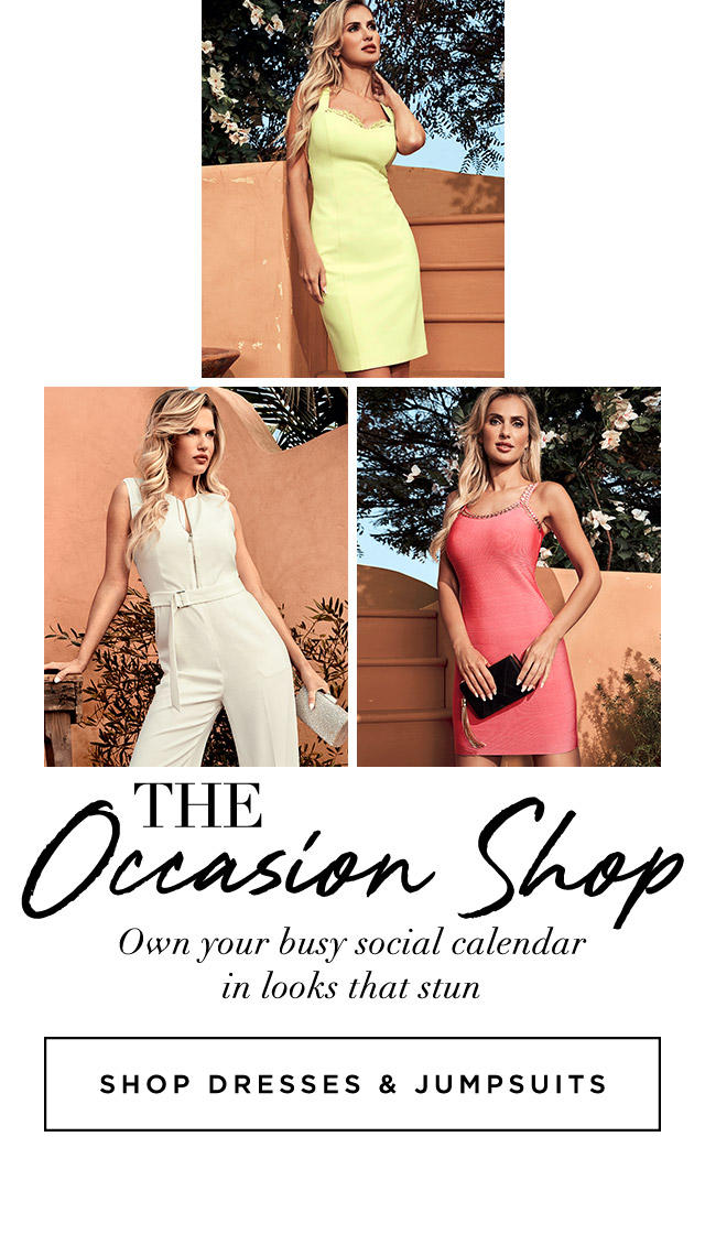 Own your busy social calendar in looks that stun Shop Dresses & Jumpsuits