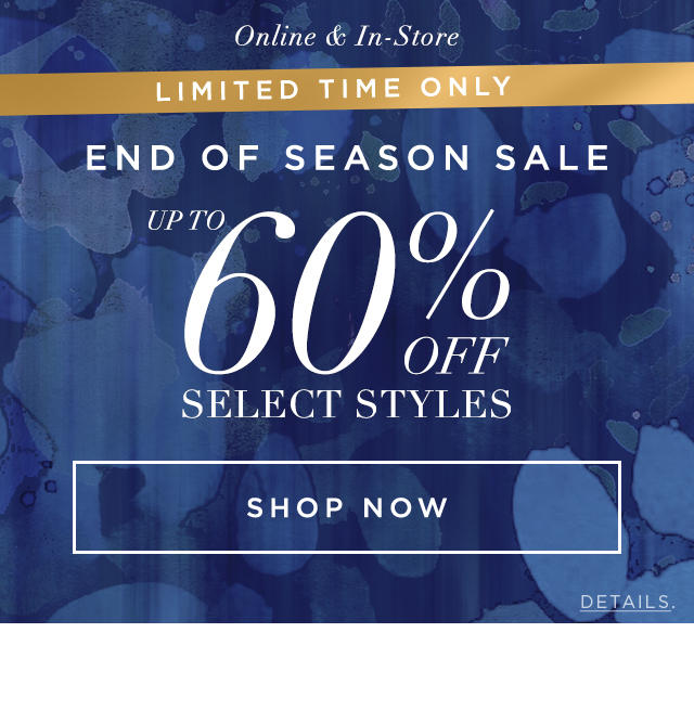 Up To 60% off select styles