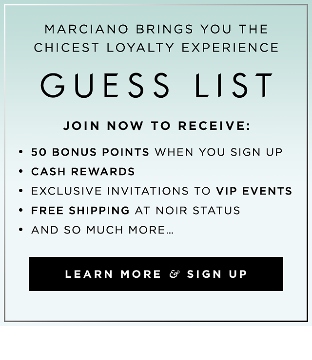 Guess List Learn More and Sign Up