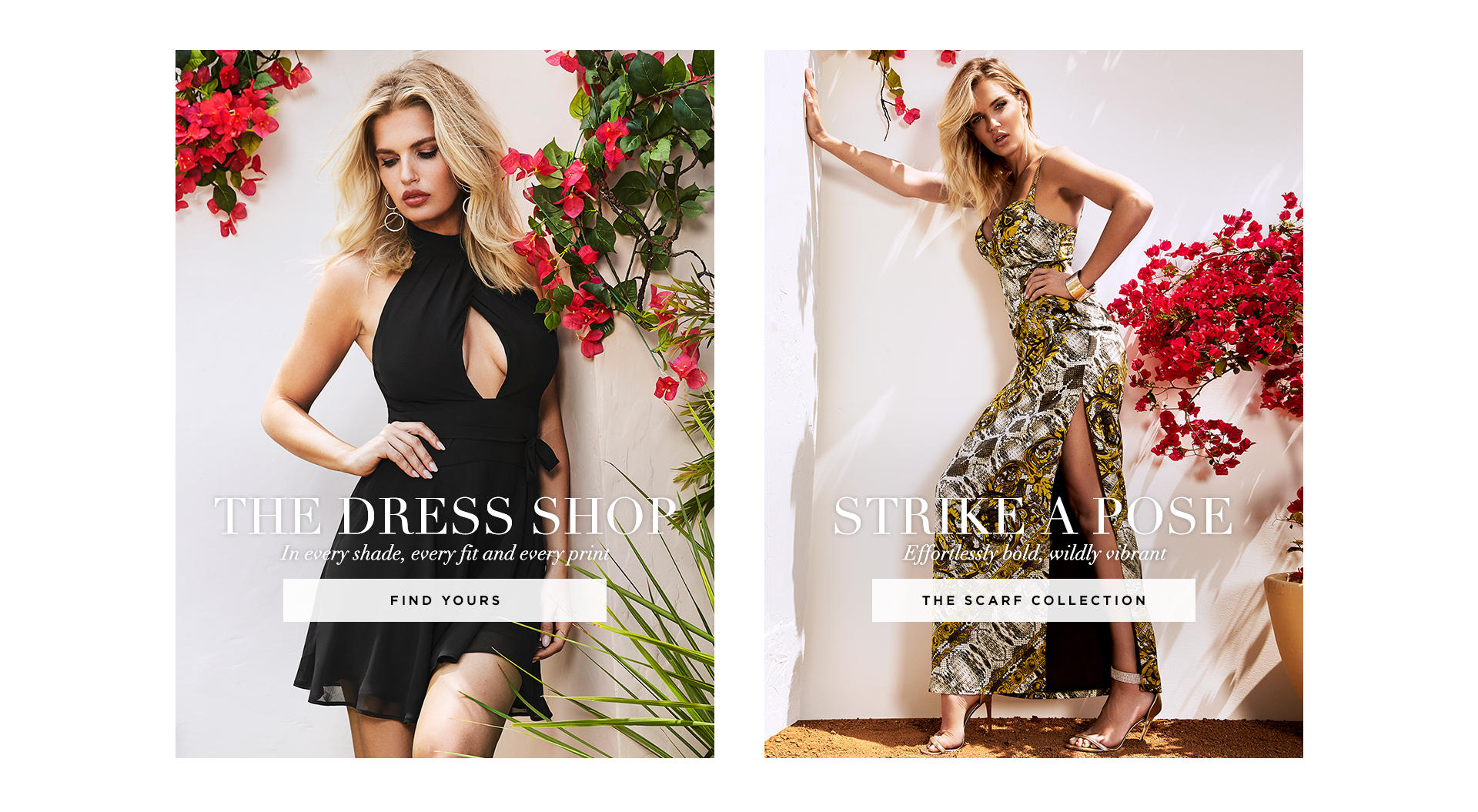 The dress shop + Strike a pose