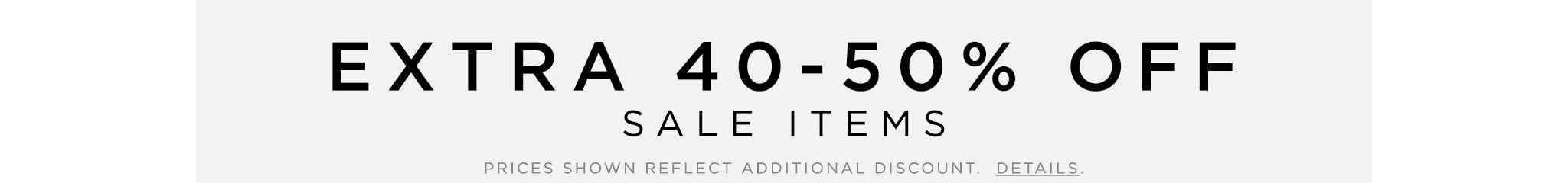 Sale 40-50% Off