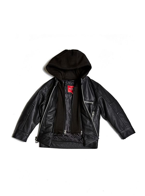 Martin Hooded Faux-Leather Jacket (2-6)  55f1313c66e5d