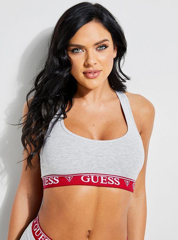 e5e5b638465944 GUESS X Amanda Cerny Logo Band Sports Bra