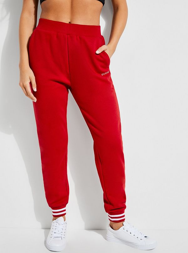 new release outstanding features sneakers for cheap GUESS X Amanda Cerny Red Lace-Up Fleece Sweatpants | GUESS.com