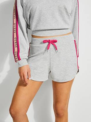 Logo Trim French Terry Shorts by Guess