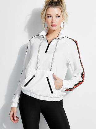 Track Half Zip Logo Windbreaker by Guess