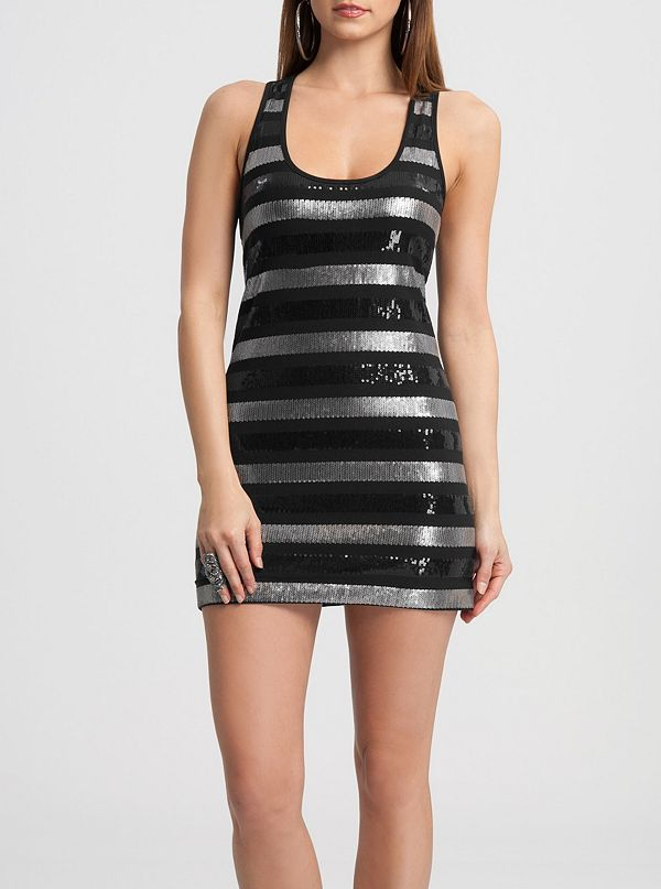 5e8eb93d Viane Sequin Racerback Dress | GUESS by Marciano