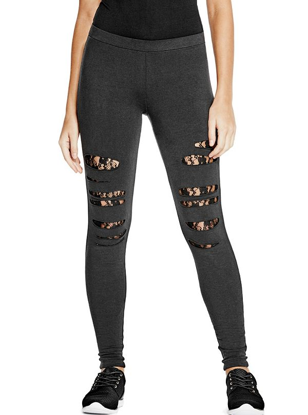 Destroyed Lace Leggings
