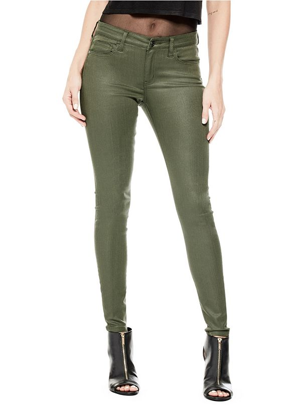 dfb9a7e70e01 Joss Mid-Rise Coated Skinny Jeans | GuessFactory.ca