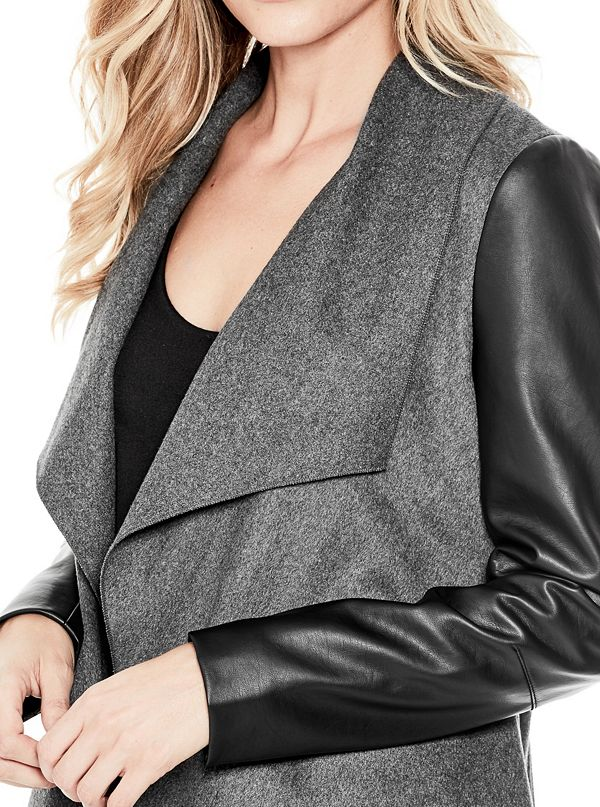 normal clothing owens lyst jacket rick draped product drapes black in
