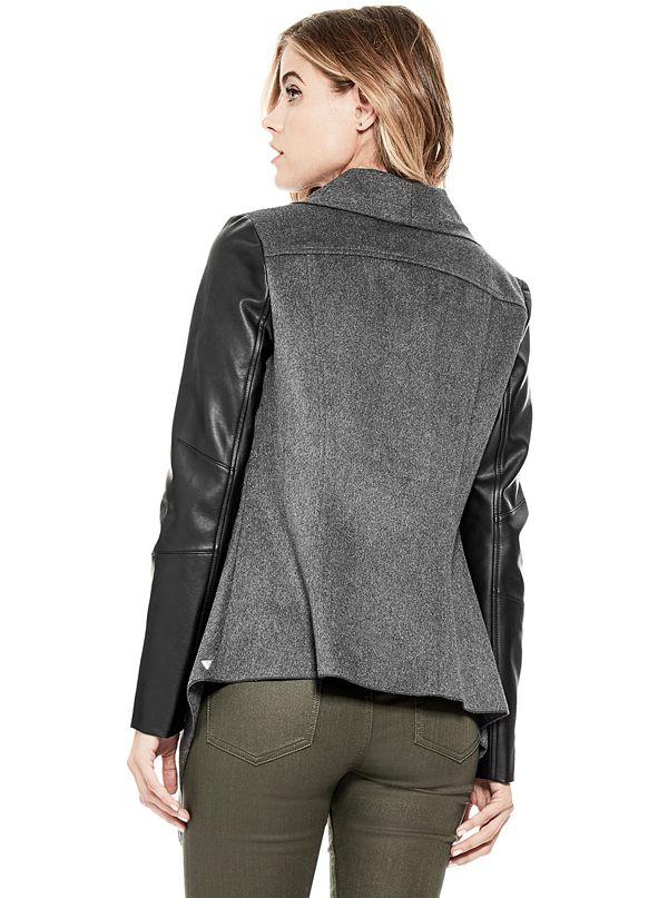 outerwear dkny jacket donna white product drapes karan draped sale linen do
