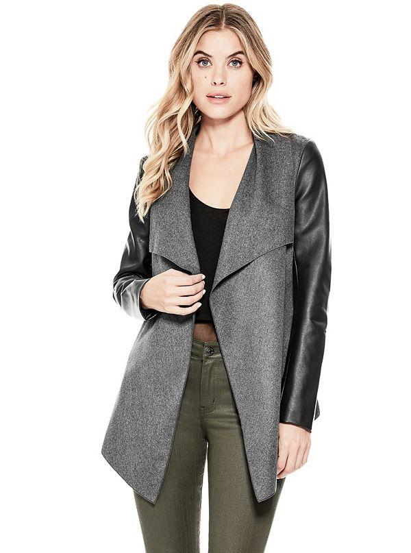 jacket linen clothing jackets drapes draped sporty coats womenswear and shop