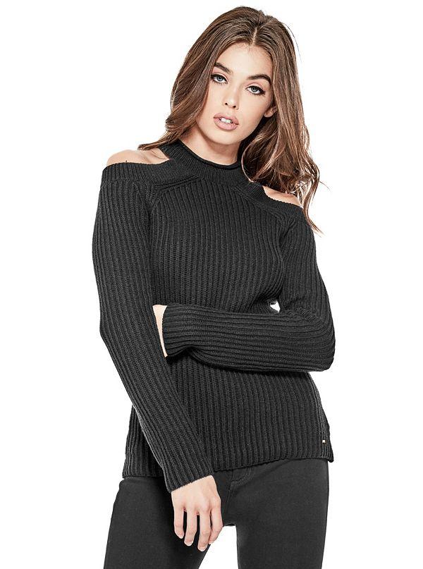 ece7723244686 Ingrid Cold-Shoulder Sweater