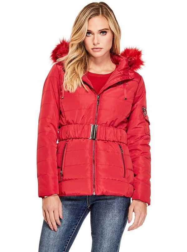 d2564c1a6 Delana Belted Puffer Coat | GuessFactory.ca