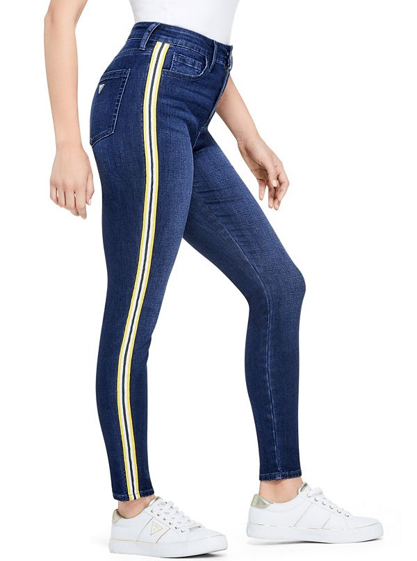0ba7cdff086 Johnna High-Rise Side Stripe Skinny Jeans
