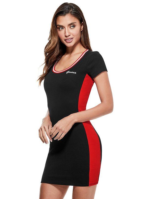 c2e32a9cab9 Maytal Ribbed Side-Stripe Dress