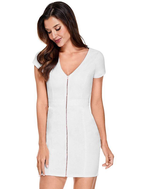 8819ad94d89 Galilea Denim Zip Mini Dress