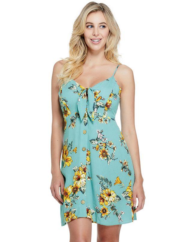 7b14ed997 Baylor Tie-Front Floral Dress