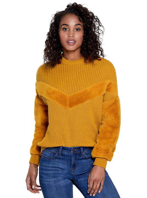 Diona Faux-Fur Trim Sweater 10bee6db0