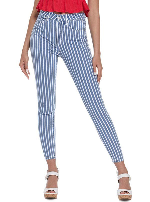 8cb5c0fa774895 Carmyn Striped High-Rise Skinny Jeans