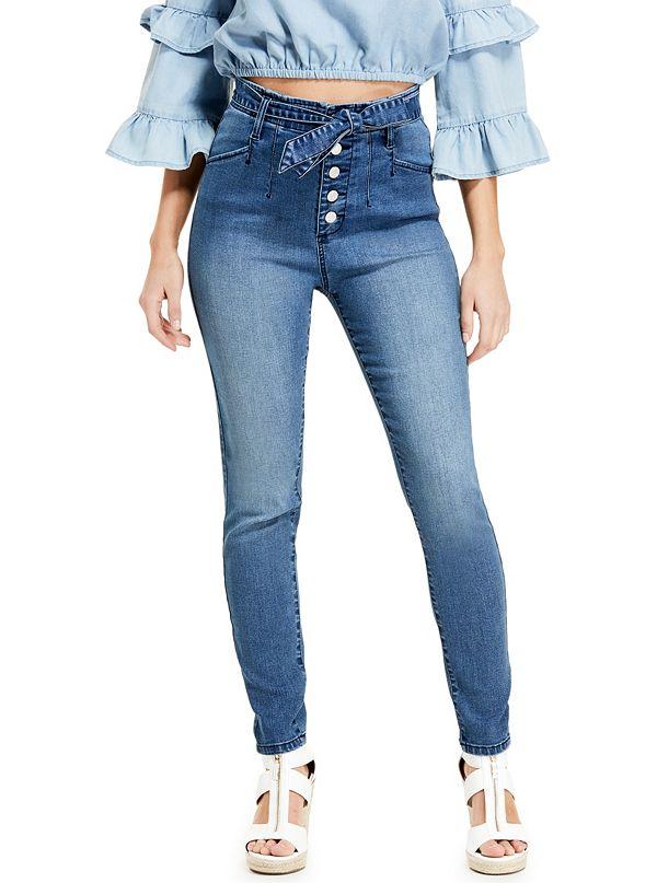7af80c0c600 Kato High-Rise Tie Skinny Jeans