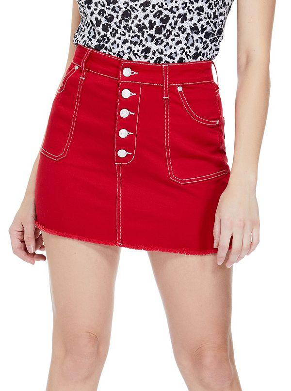 fb2ed3b067 Arly Contrast-Stitch Mini Skirt
