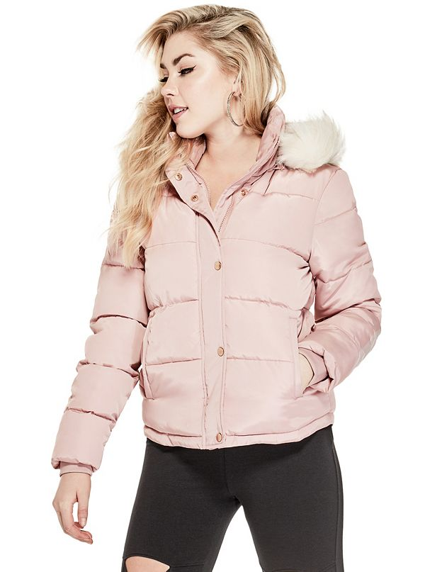 White winter coat guess