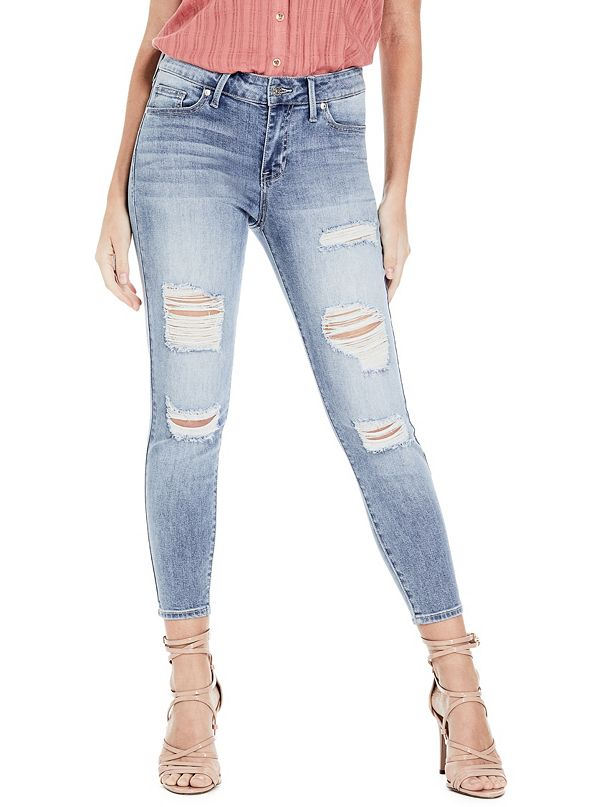 Irene Destroyed Capri Jeans