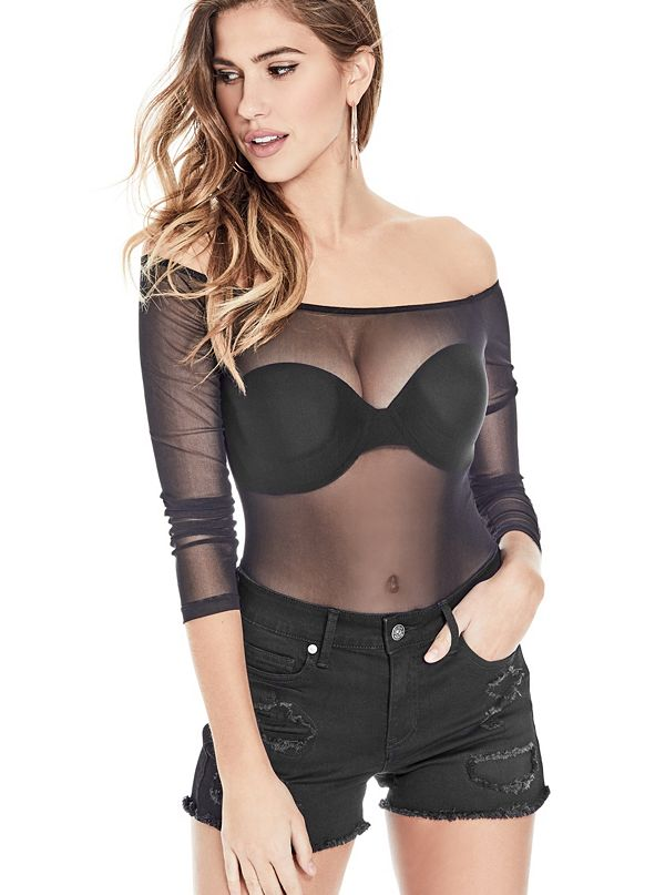 c0a2b8d6cad Star Sheer Off-The-Shoulder Bodysuit