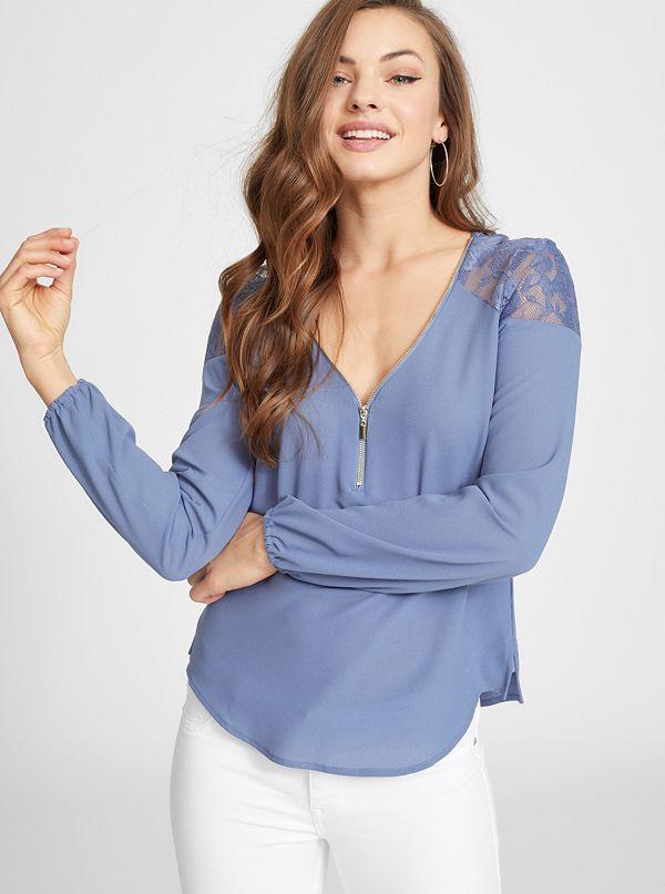 755d67b0393aca Evelina Lace-Panel Shirt