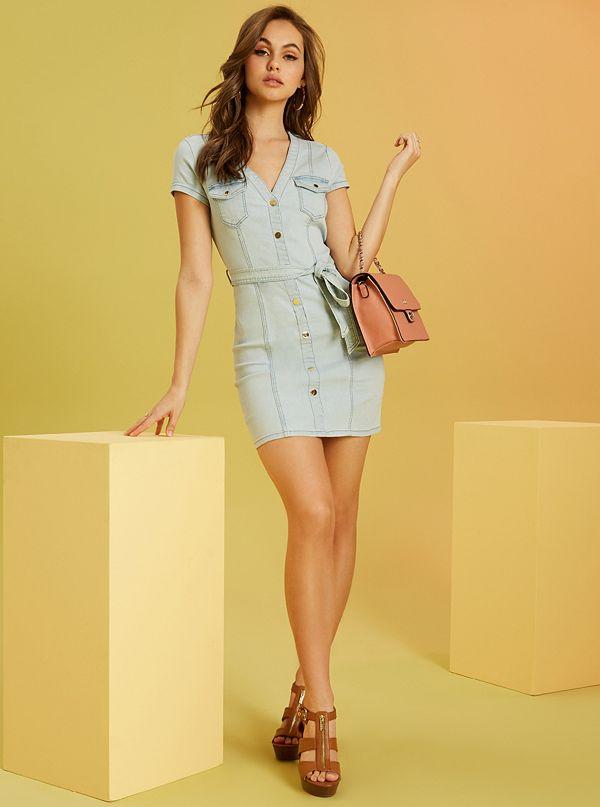 d339dff8021d Santana Button-Front Denim Dress