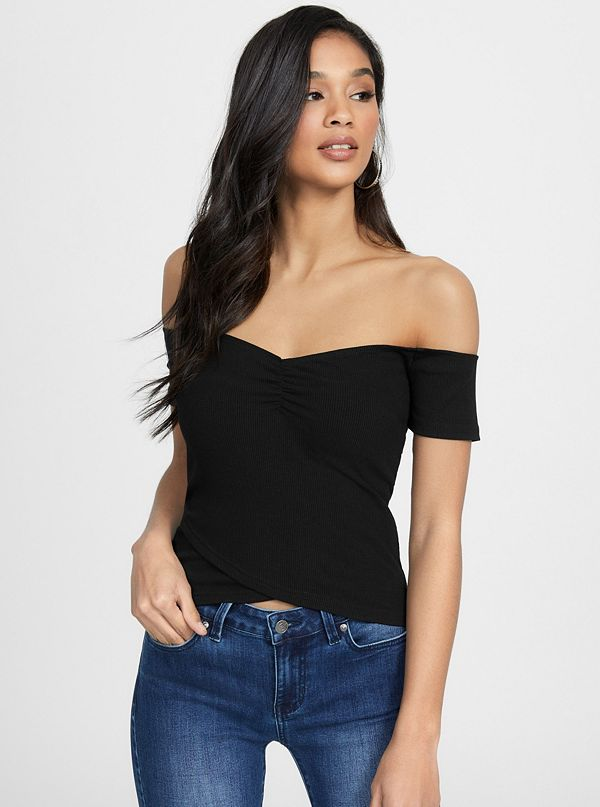 266e3677e3c8e Luellen Off-The-Shoulder Crop Top